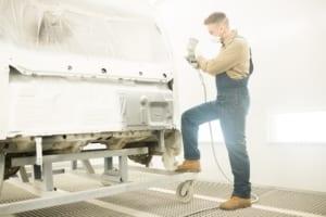 Mechanic Painting Car Body